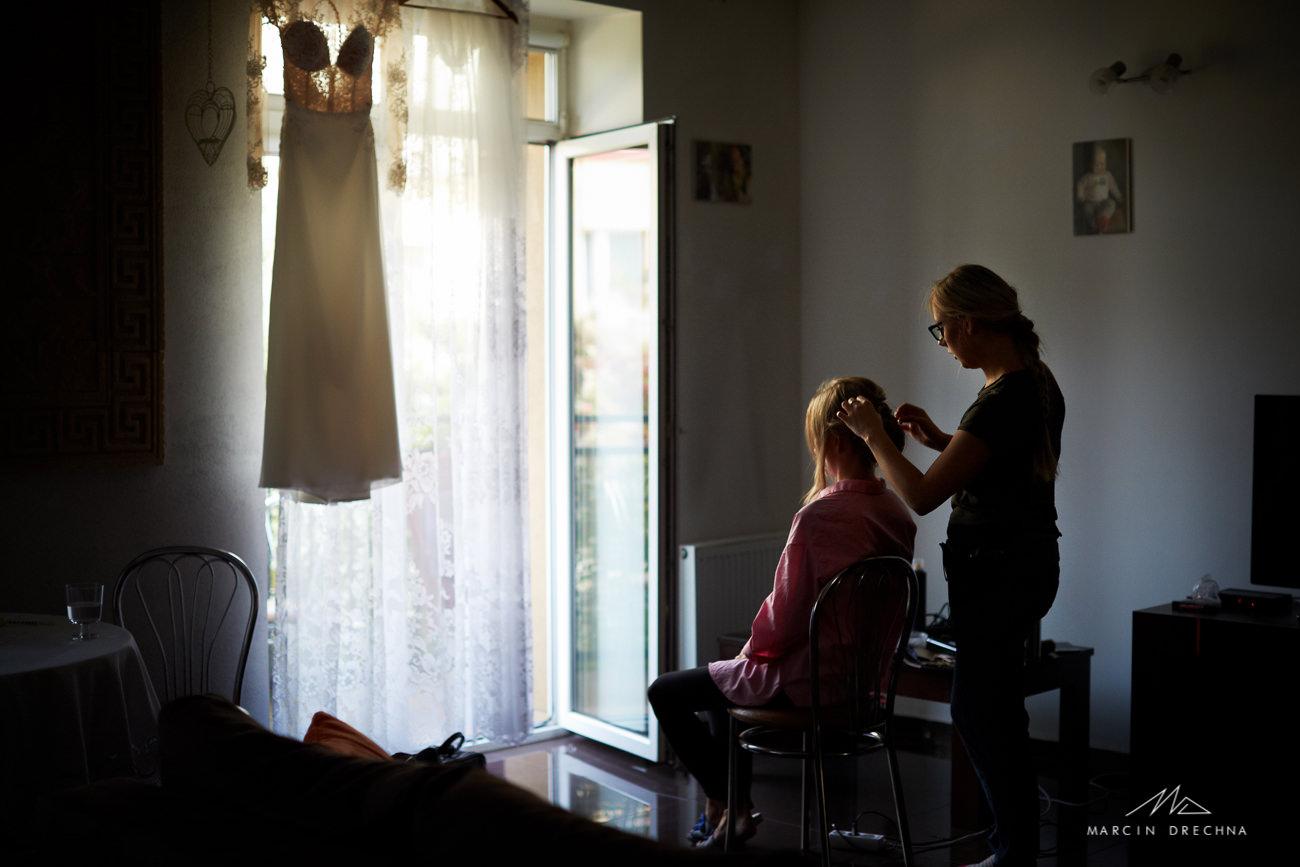 fryzura ślubna dąbrowa górnicza