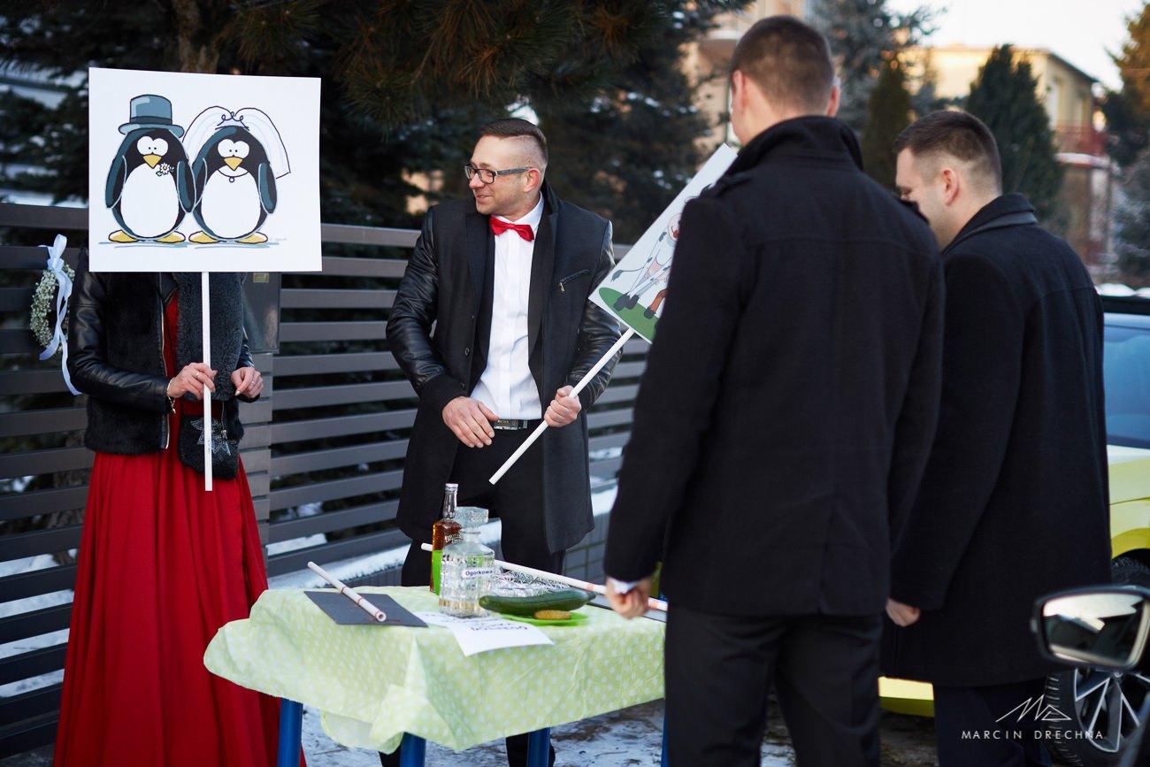 bramka przed weselem