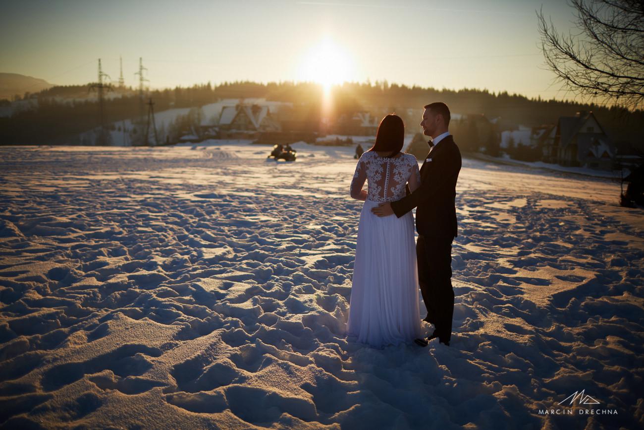 zachód słońca zakopane zdjęcia ślubne