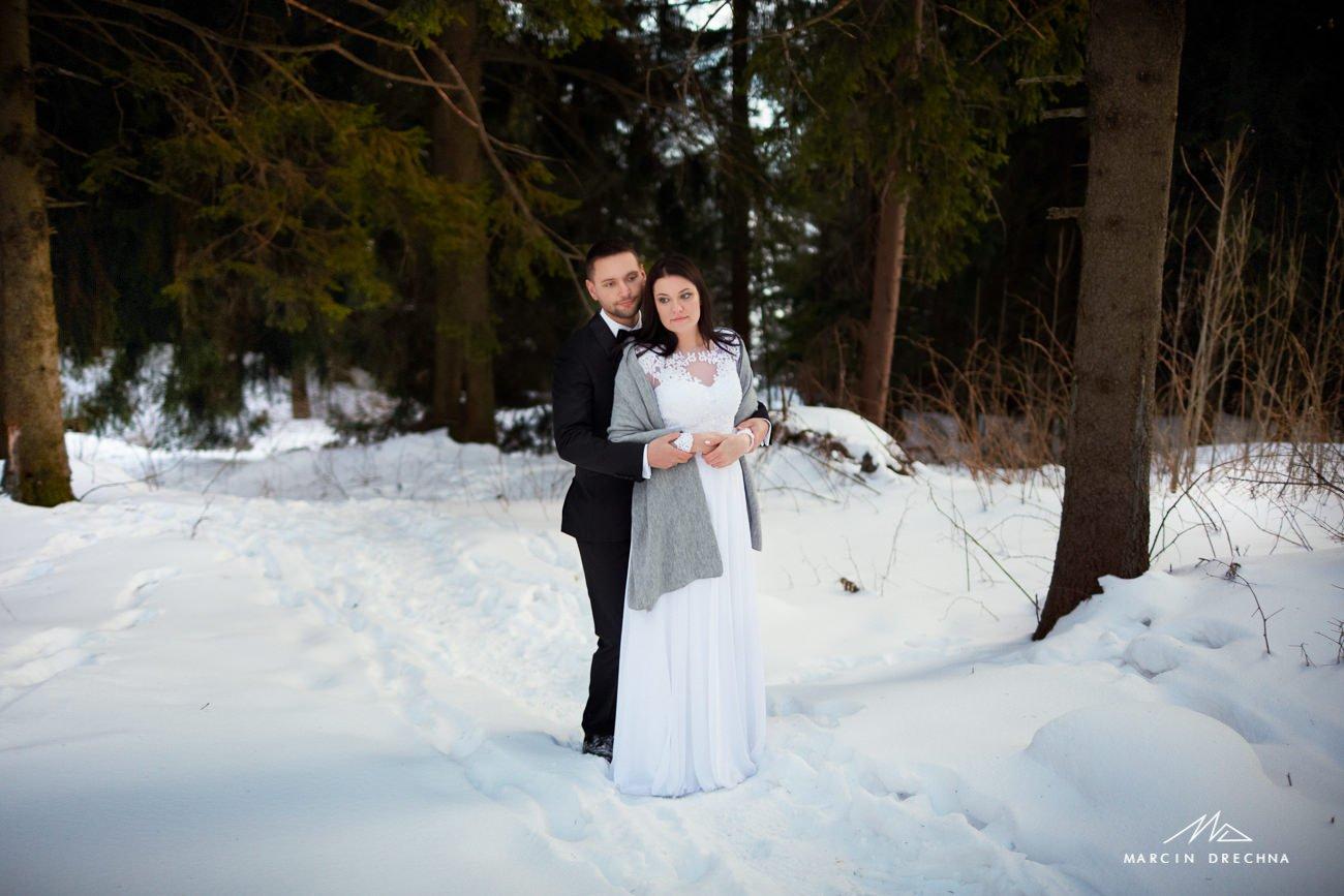 fotografia ślubna zakopane zimą