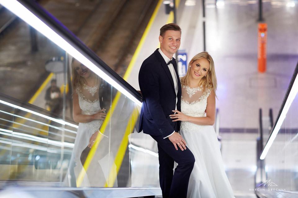 zdjęcia ślubne dworzec łódź fabryczna