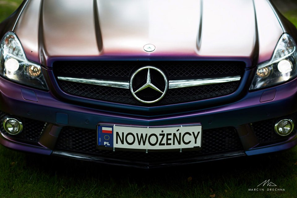mercedes amg do ślubu
