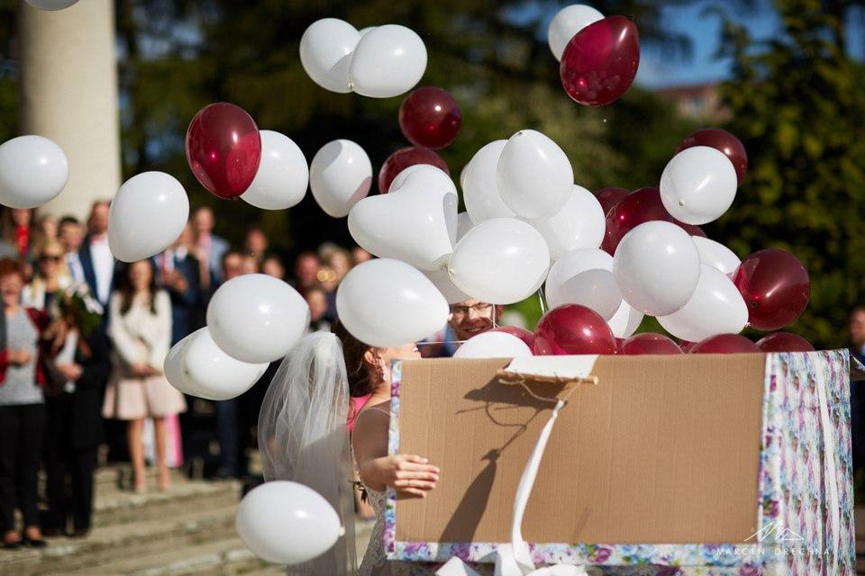 balony ślubne łódź