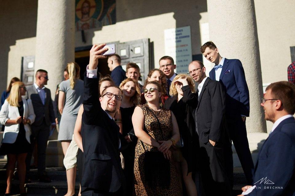 selfie ślubne w łodzi