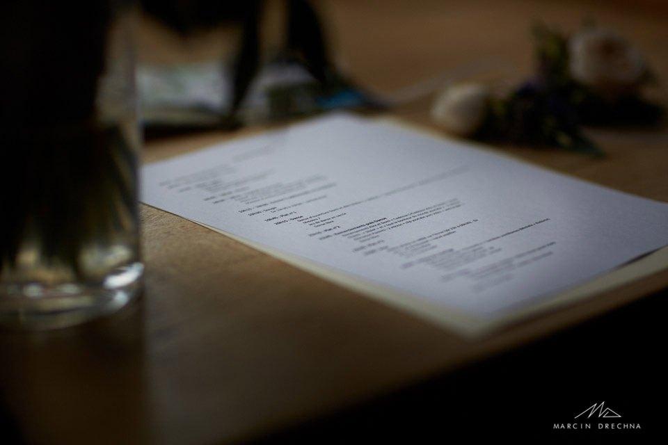 menu weselne hotel podklasztorze