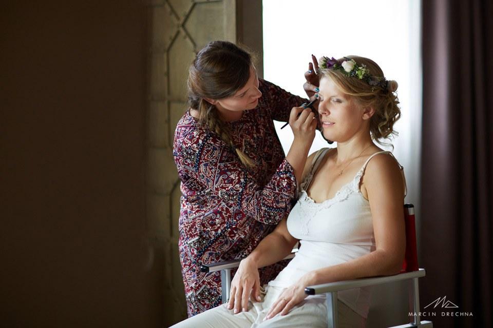 makijaż ślubny hotel podklasztorze