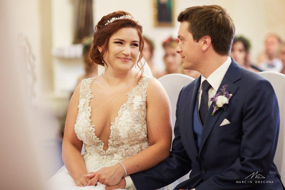 kościół w Siedlątkowie zdjęcia ślubne