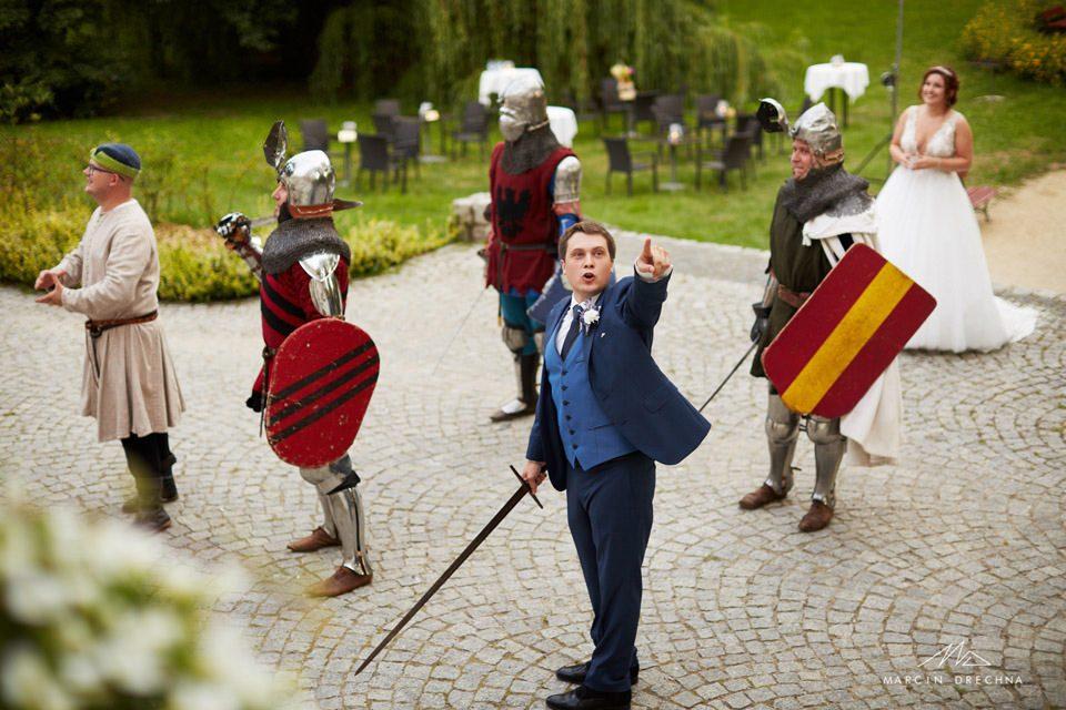 pokaz rycerski na weselu w zamku w uniejowie