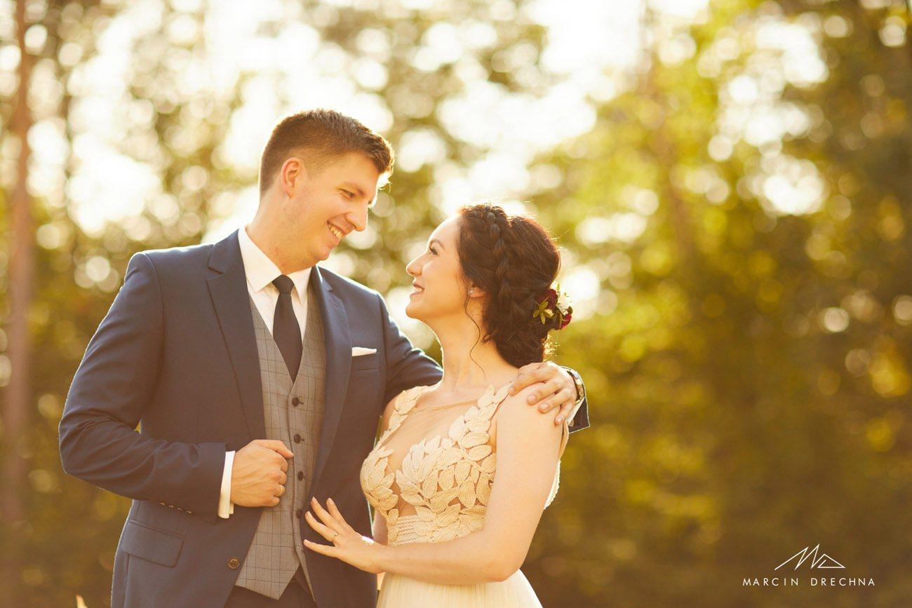 góra zborów sesja ślubna