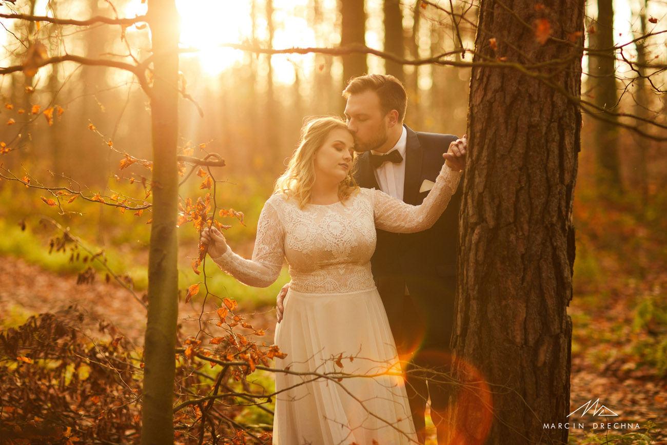 Parowy Janinowskie sesja ślubna