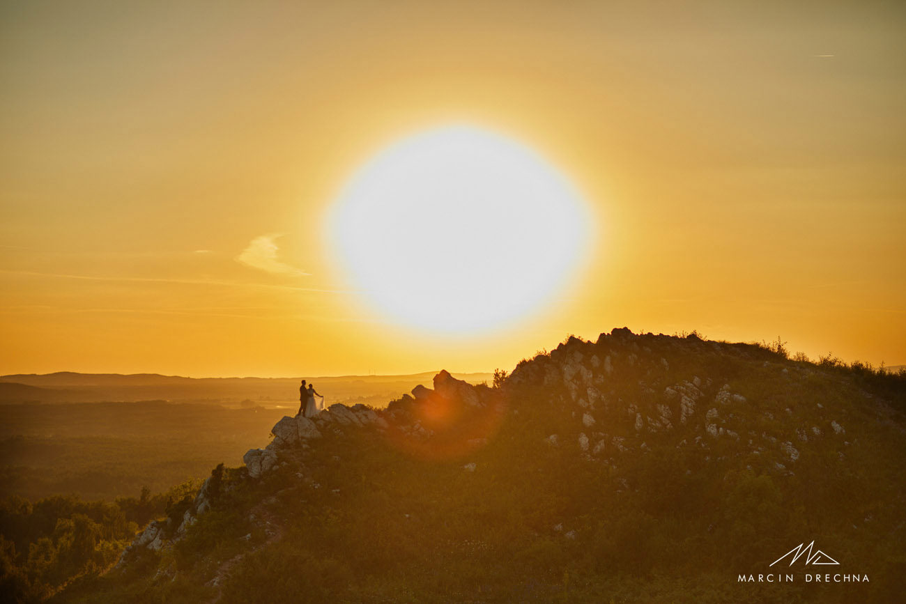 zachód słońca góry świękorzyskie