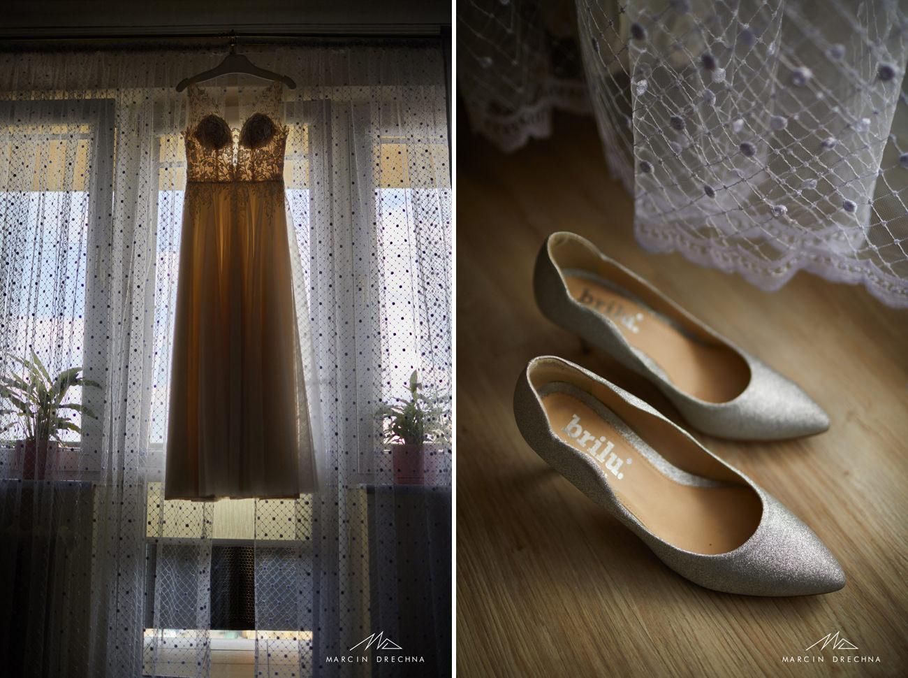 buty ślubne, suknia ślubna