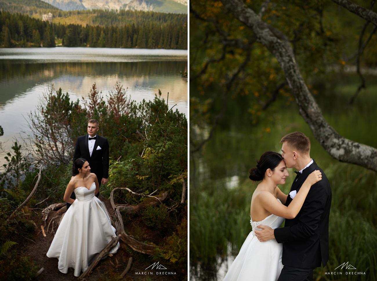 sesja ślubna tarty słowackie szczyrbskie jezioro